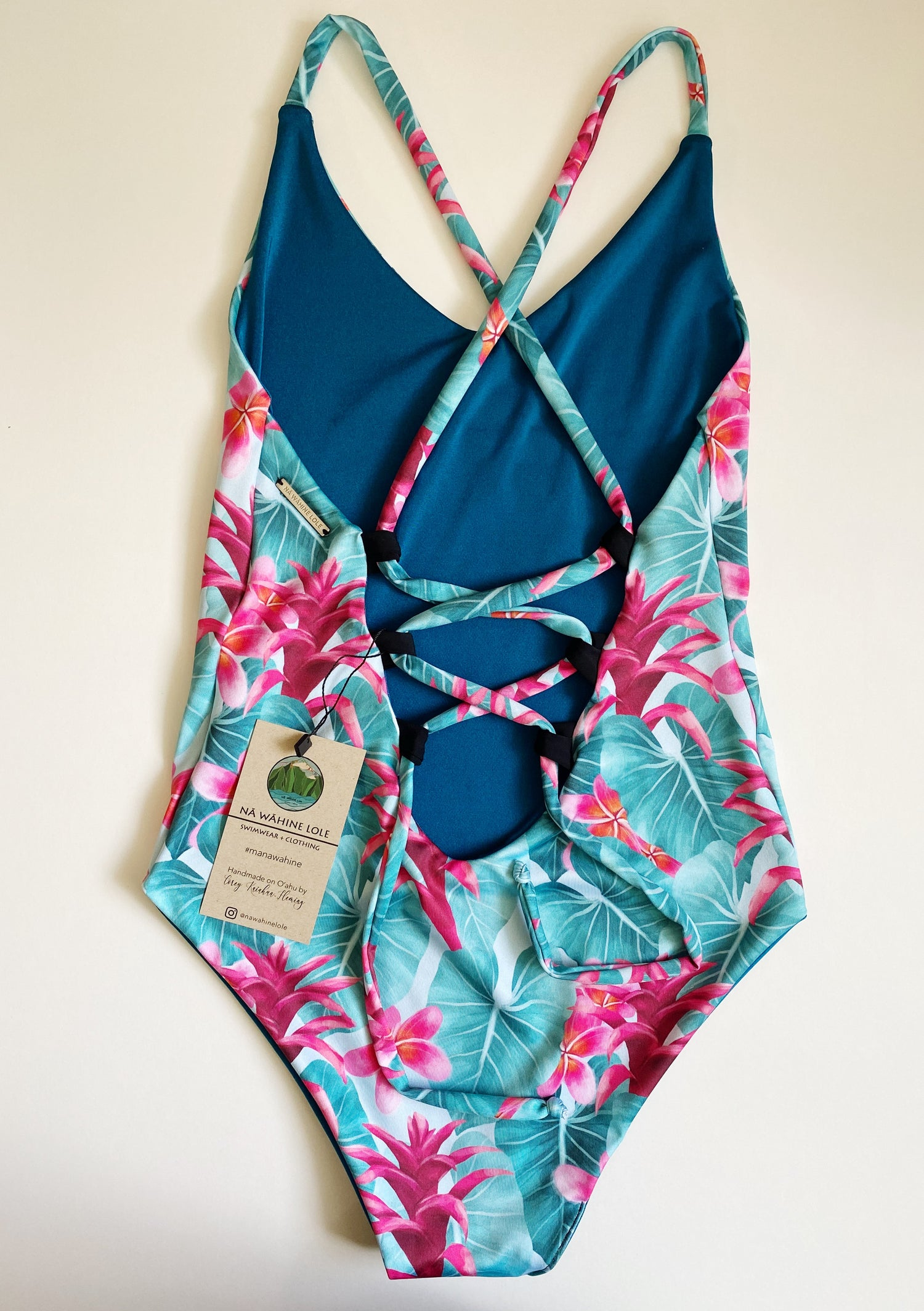 Image of Ready to ship- Small tropical blue moe one piece
