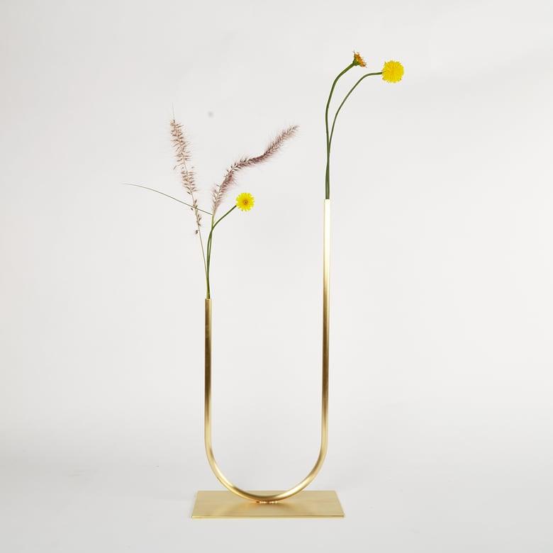 Image of Uneven U Vase, Vase 00405 - for fine foliage only