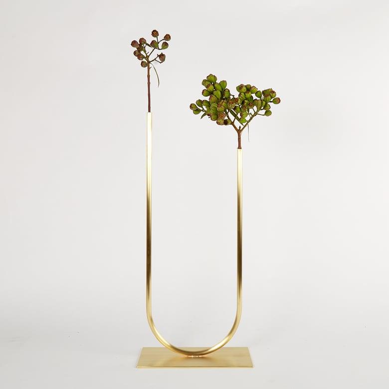 Image of Uneven U Vase, Vase 00406 - for fine foliage only