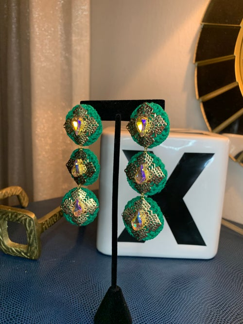 Image of Green Holiday earrings