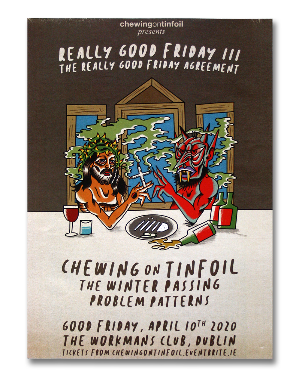Image of Chewing on Tinfoil gig poster prints