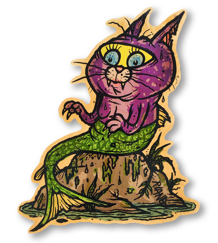 Image of New! Kitten of the Sea wall art
