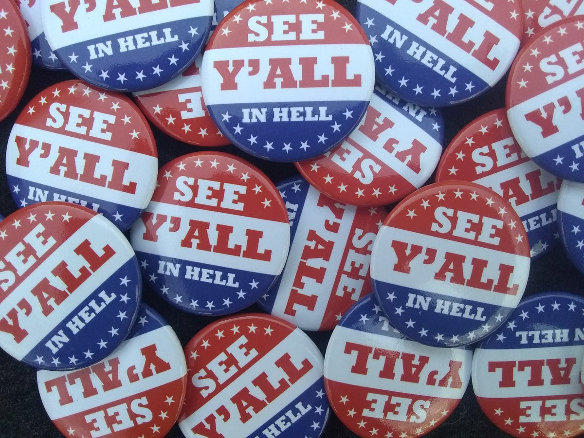 Image of See Y'all in Hell Pinback Button / Badge