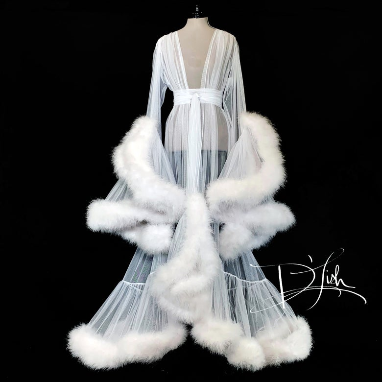 "Image of White ""Cassandra"" Dressing Gown"