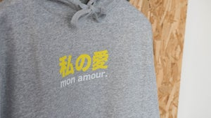 "Image of Sweat ""Mon amour"" Gris Clair Chiné By FCKRS®"