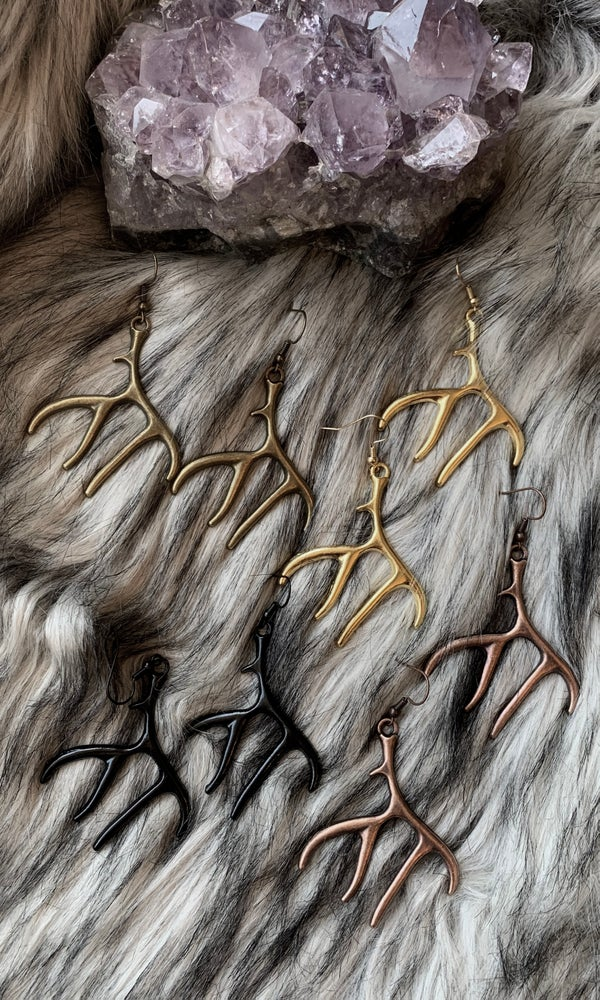 Image of ANTLER EARRINGS