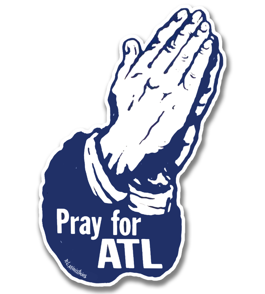 Image of Pray for ATL (blue and white)
