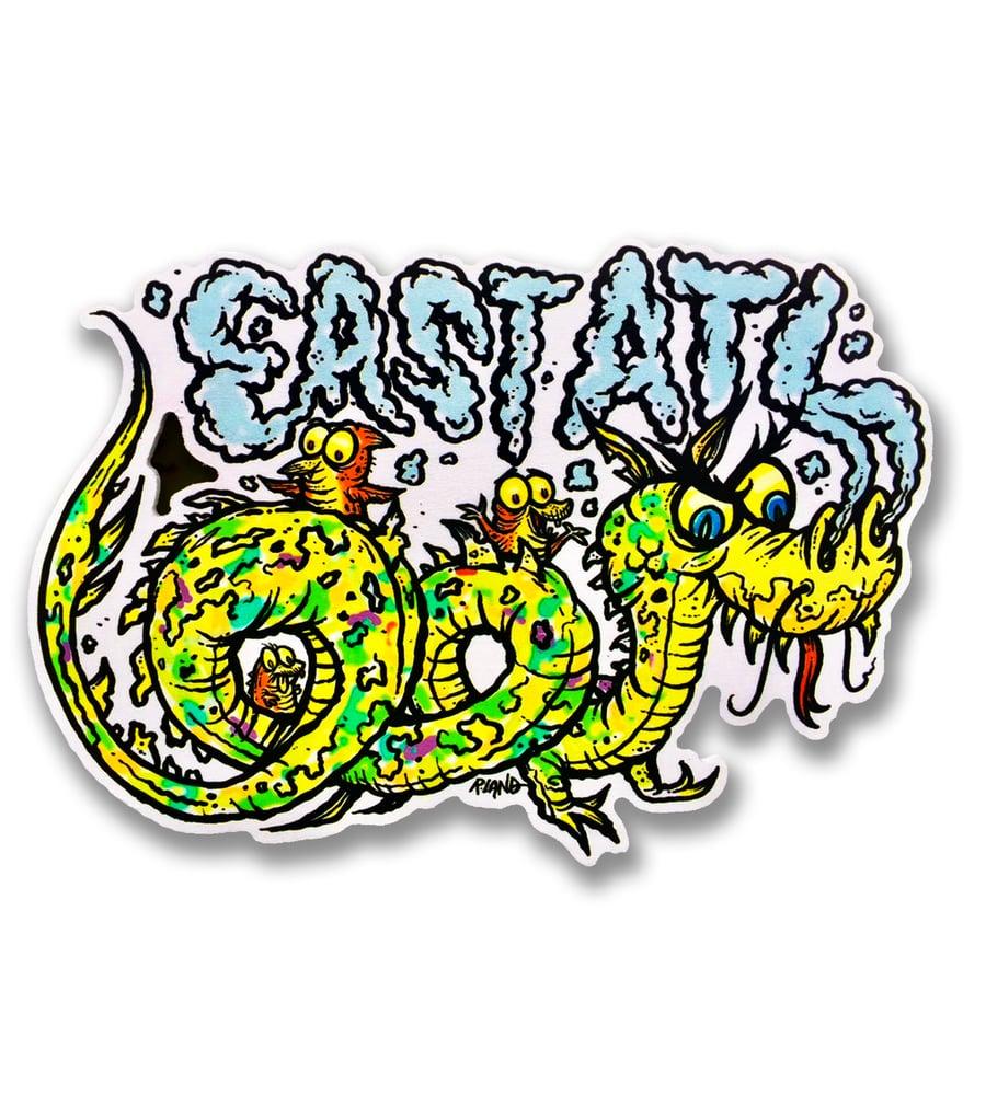 Image of East Atlanta dragon cut-out wall art