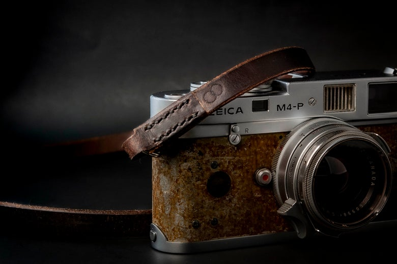 Image of Leather camera strap / Deep Brown Story