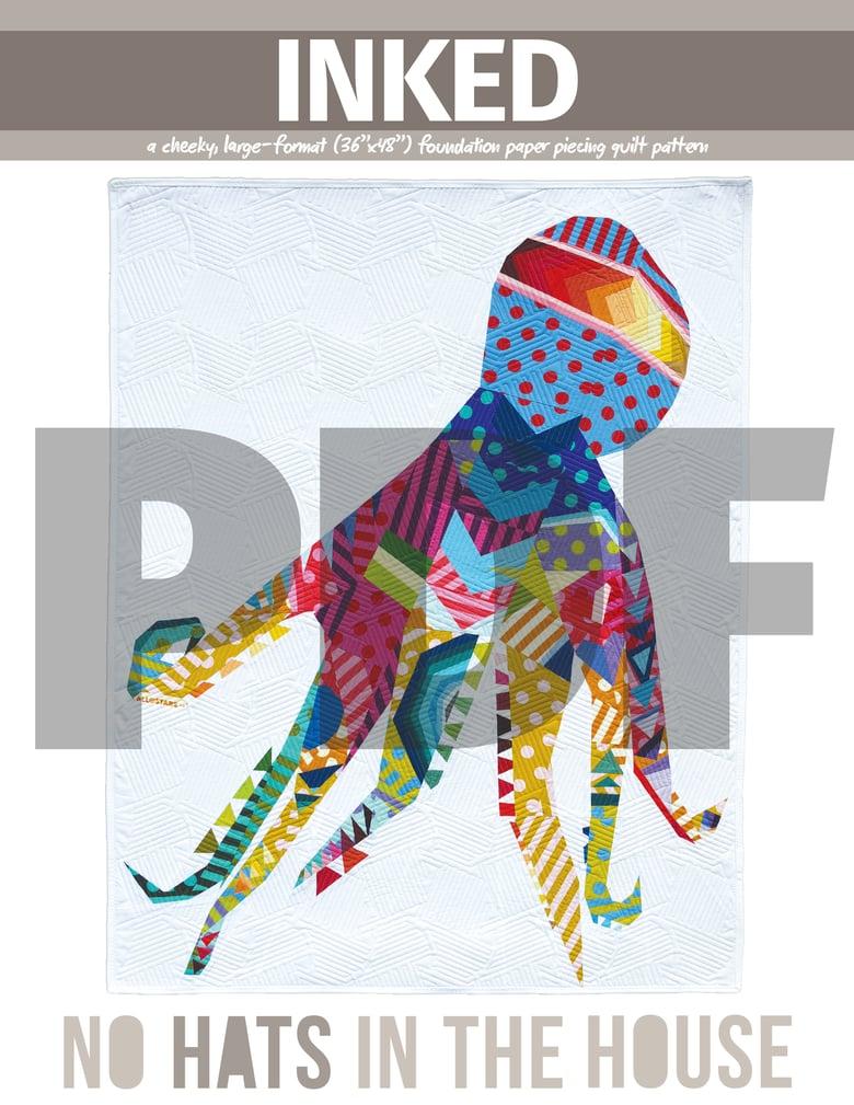 Image of Inked Quilt Pattern (DIGITAL/PDF)