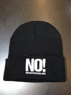 Image of No! Refuse Fascism.org original black beanie