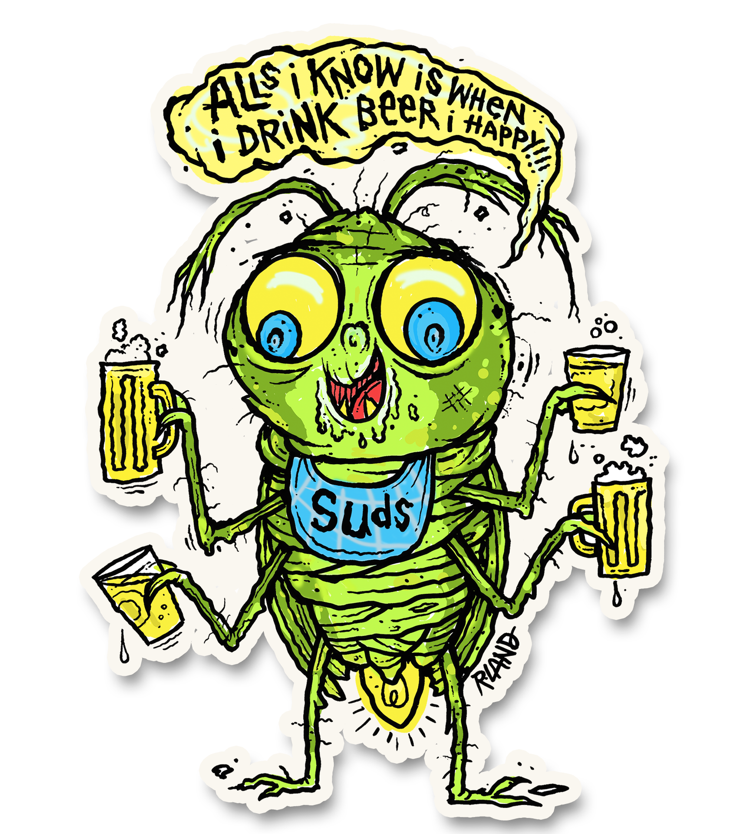 Image of Suds  bug wall art!