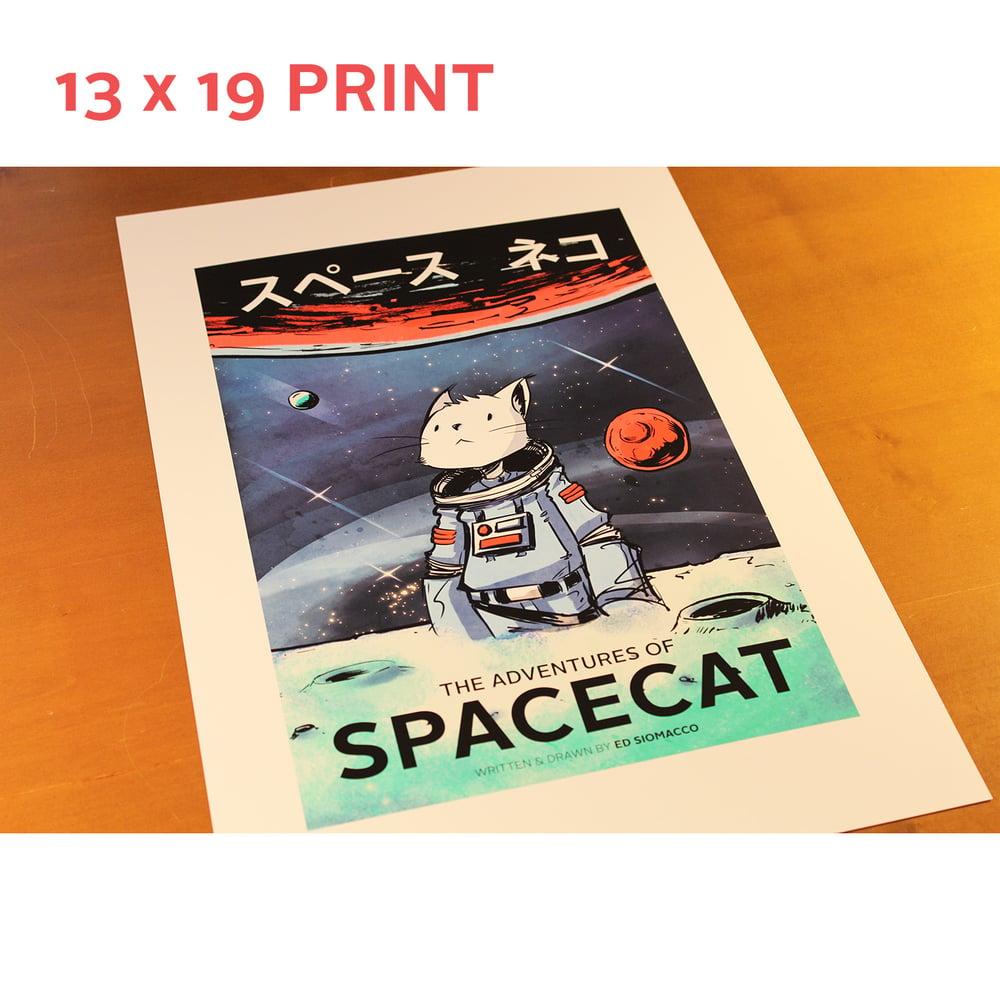Image of 13 x 19 SpaceCat 'Adventures' Print