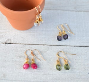Tiny Gem Earrings