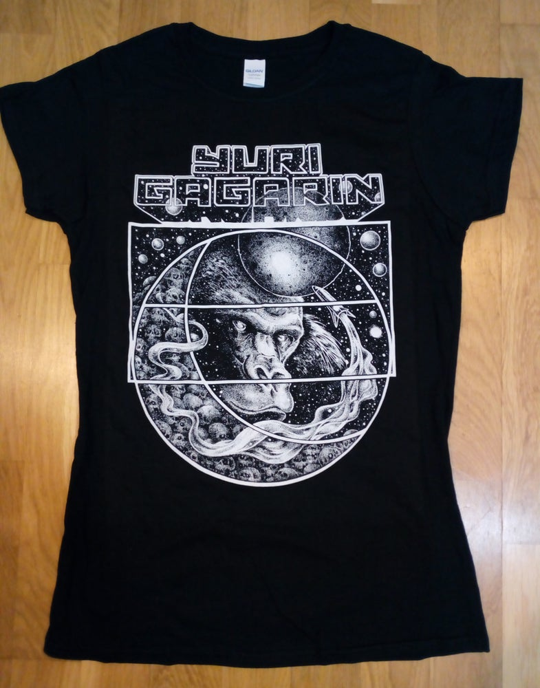 Image of Black Space Monkey Girlie T-Shirt