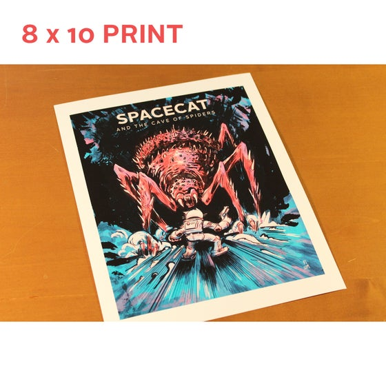 Image of 8 x 10 - SpaceCat 'Cave of Spiders' Print