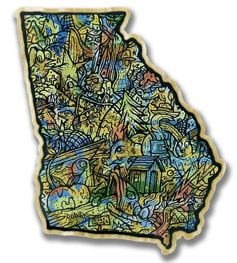 Image of Georgia Land Art On Wood