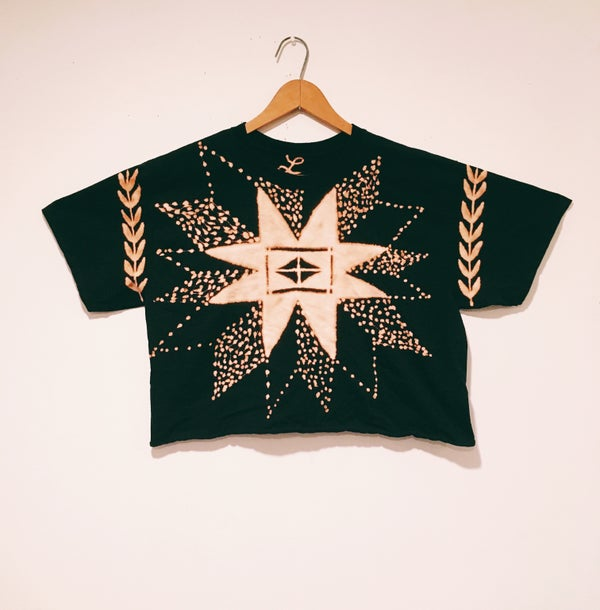 Image of FOLK SONG <> hand dyed crop tee