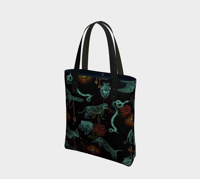 Image of Tote Bag in Protectors print