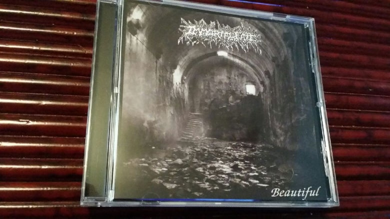"Image of IMMORTAL FATE ""beautiful/faceless burial"" cd"