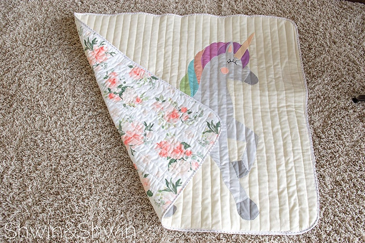 Image of Unicorn Quilt Template