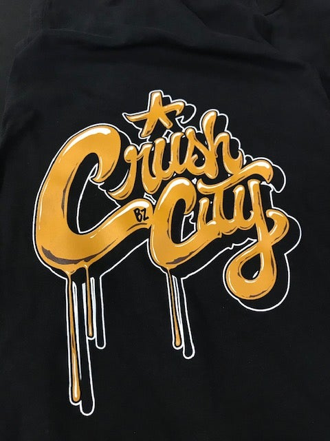 Image of Crush City Baseball Script Tee