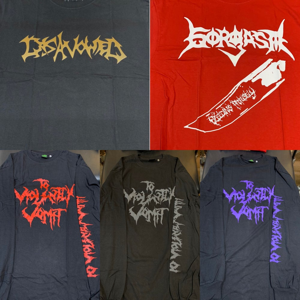 Image of Officially Licensed To Violently Vomit/Disavowed/Gorgasm Shirts!