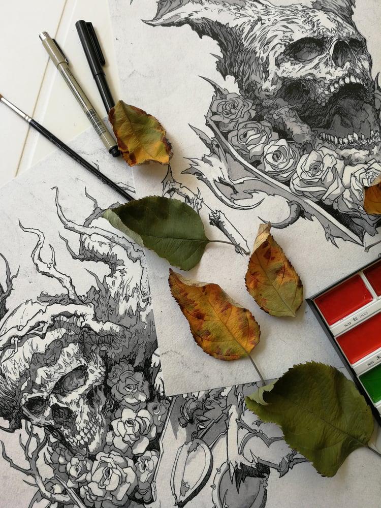 Image of Skull Roses
