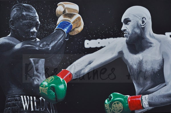 Image of FURY VS WILDER (3x2ft canvas print)