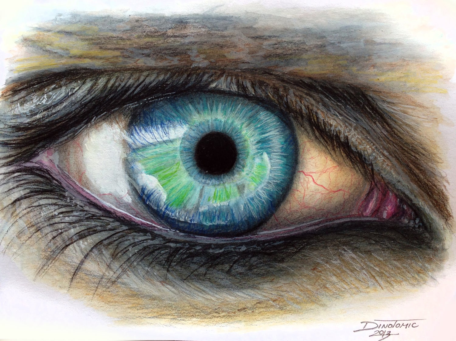 Image of #166 Eye colorful drawing