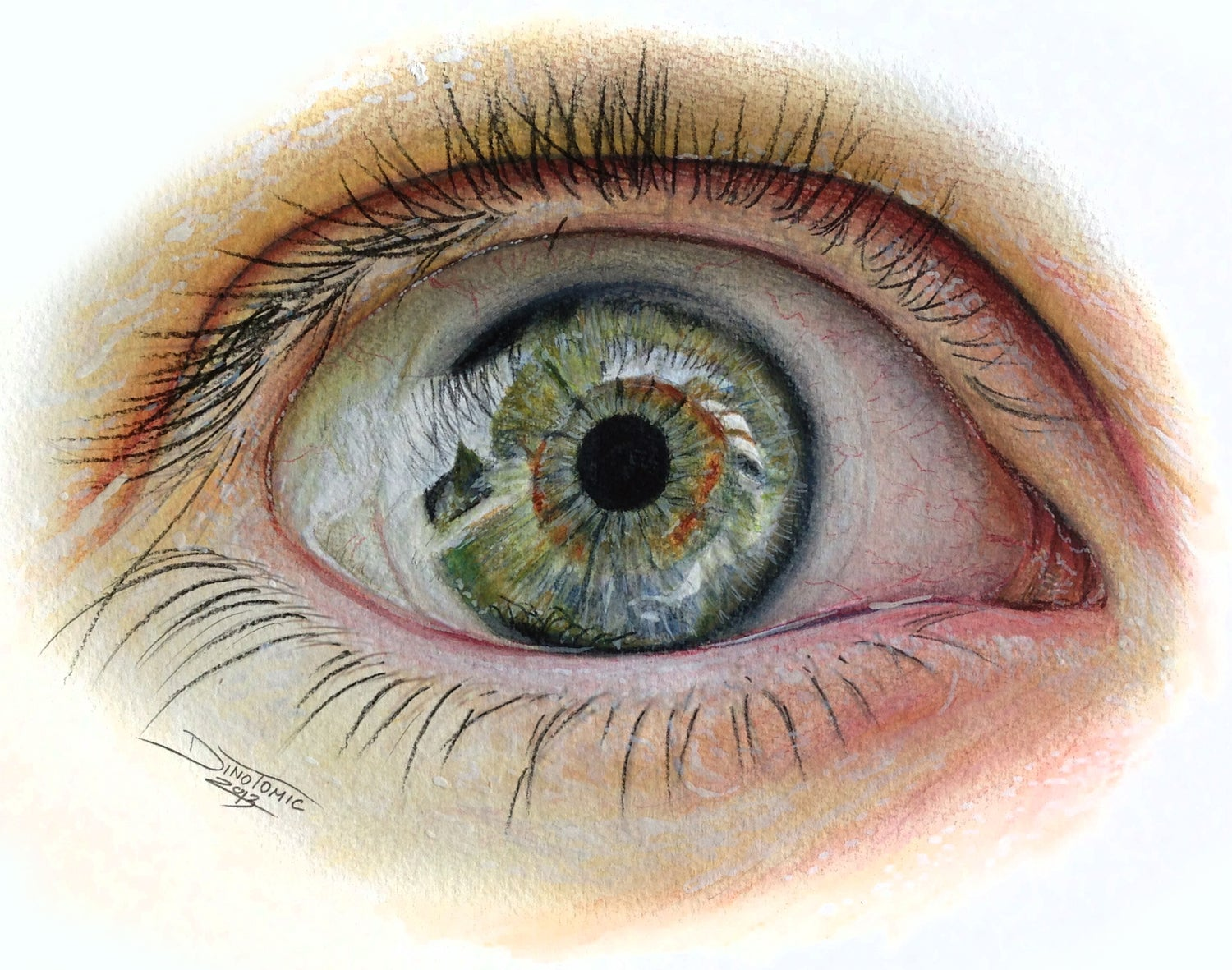 Image of #167 Eye sketch print