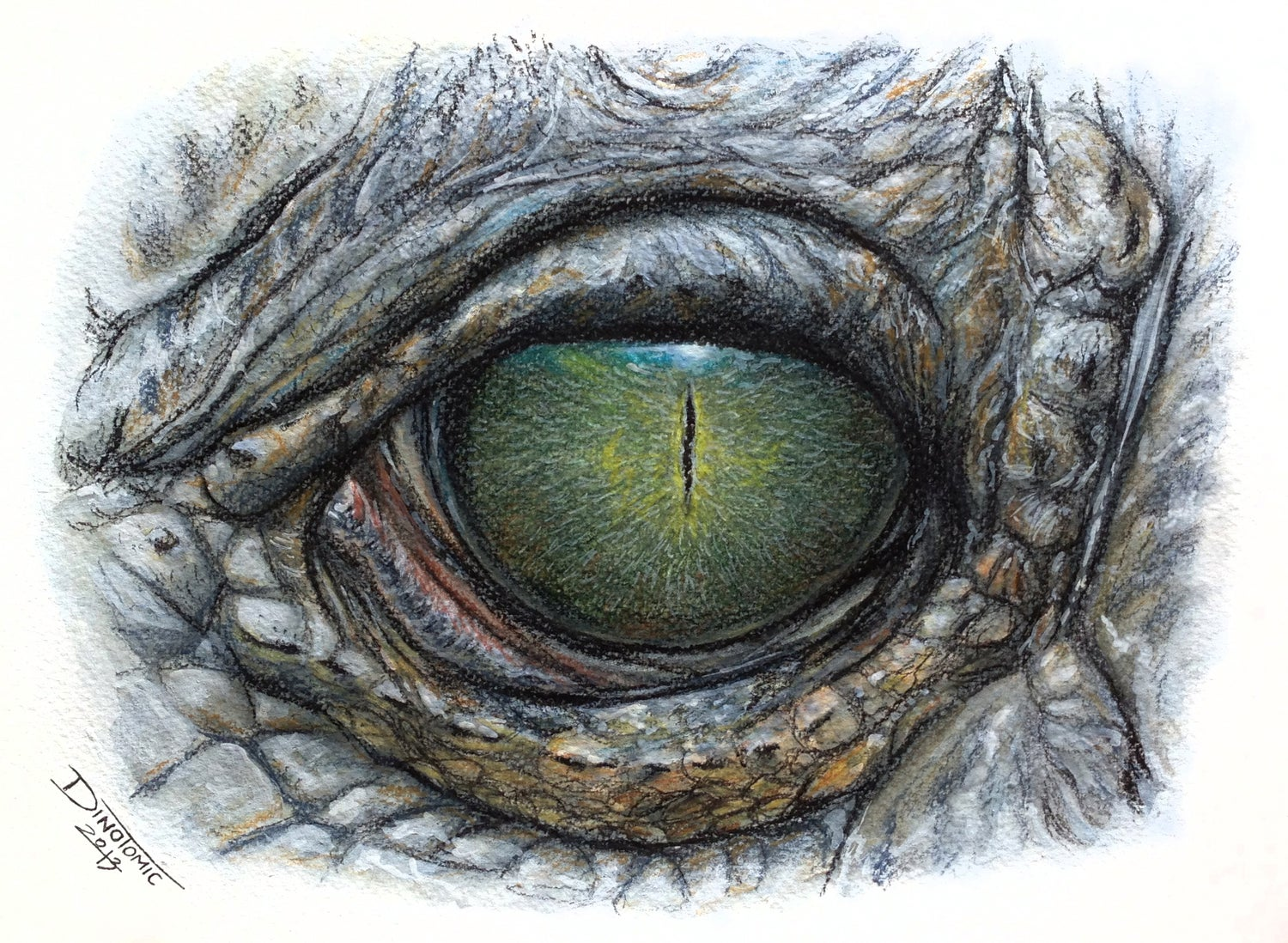 Image of #168 Reptile eye print