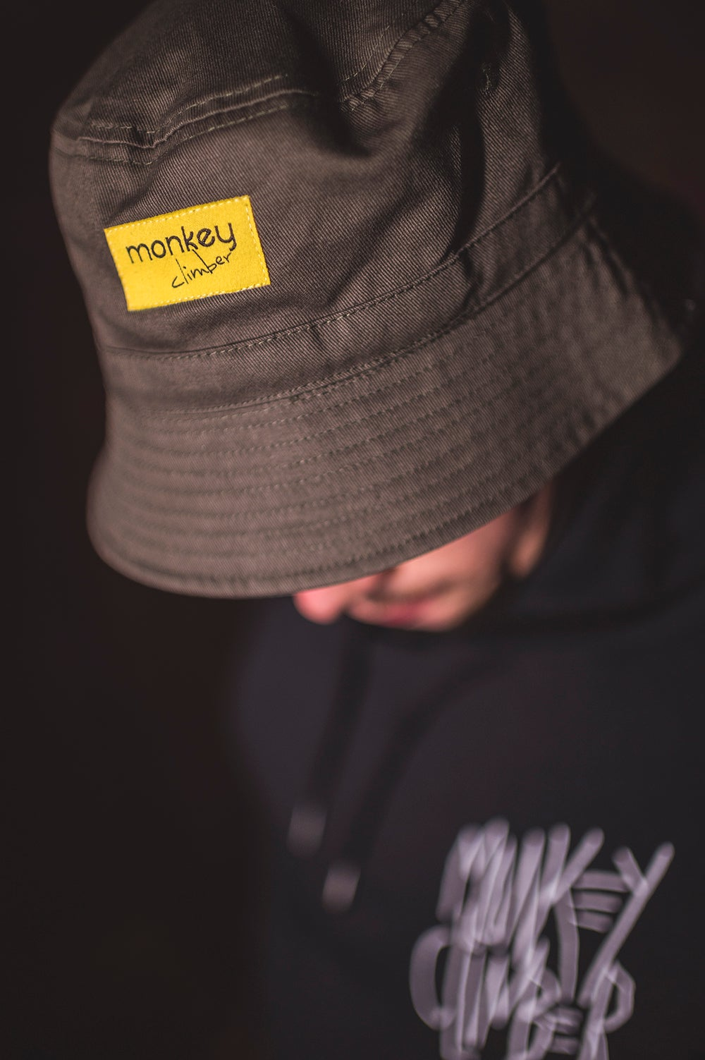 Image of Monkey Climber OG Bucket Hat I Olive - Camou