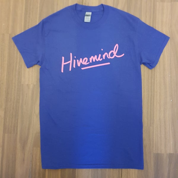 Image of Hivemind Pink/Navy T-Shirt