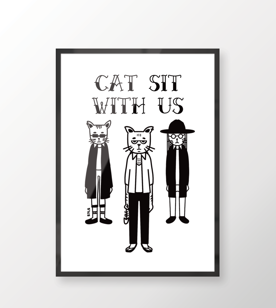 Image of Cat sit with us