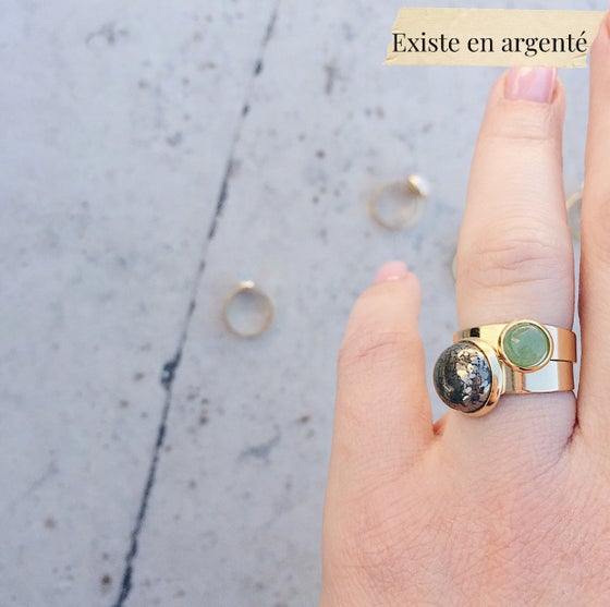 Image of Duo de bague SAL // pierres fines au choix