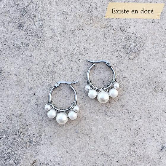 Image of BO LIVIA // Petit modèle argenté