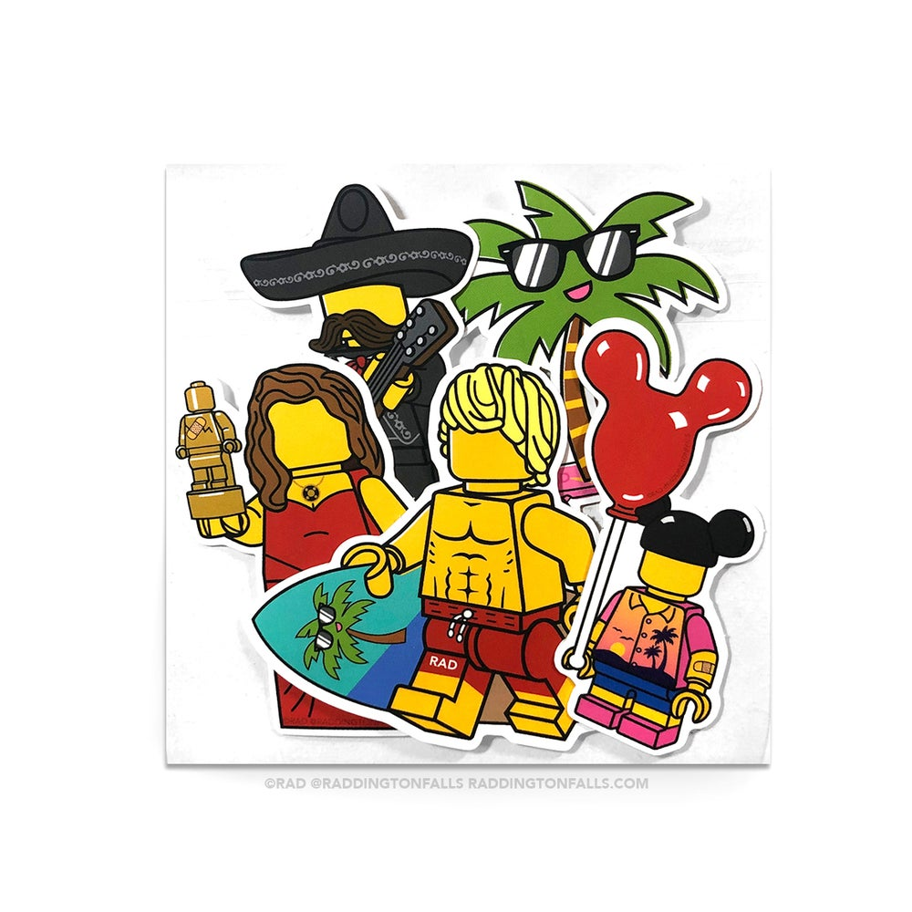 Image of Los Angeles Sticker 8 Pack