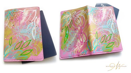 Image of Pink N' Green Passport Covers