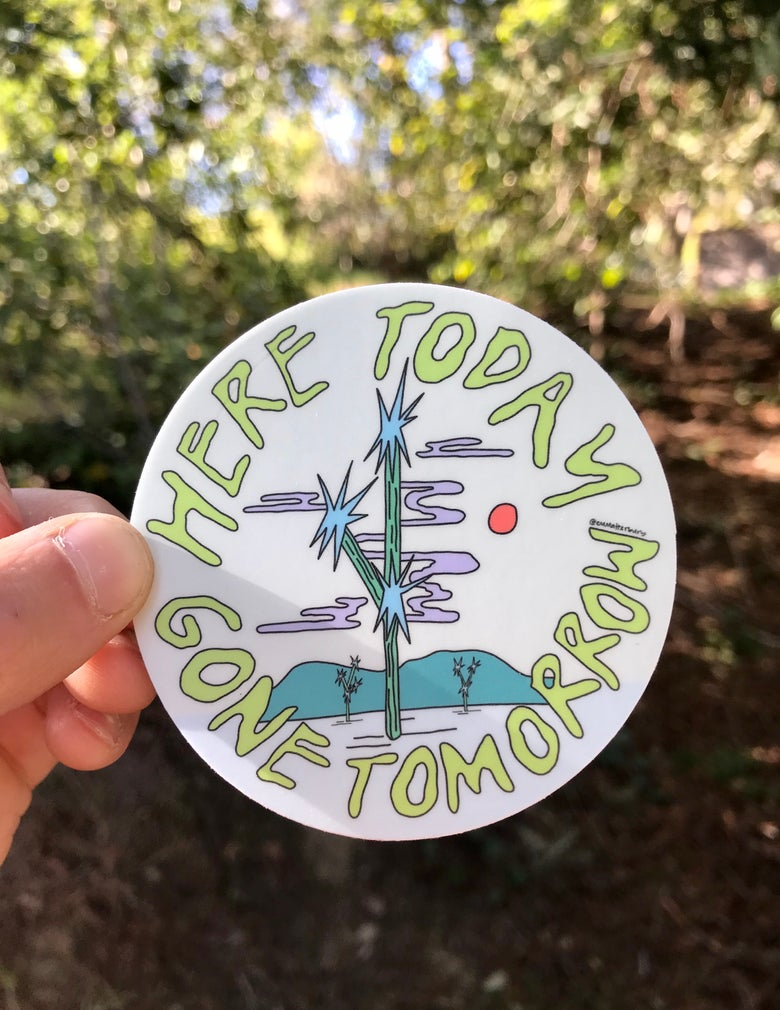 Image of Here Today, Gone Tomorrow Sticker