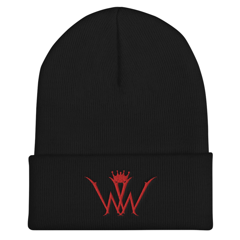 Image of Wiked Wood Symbol Cuffed Beanie (RED)