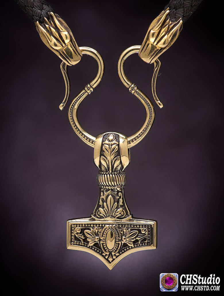 Image of Thor's Hammer :: MJOLNIR  Paracord Necklace