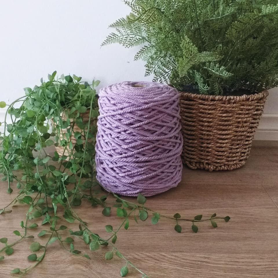 Image of 1kg Lavender 3ply Rope