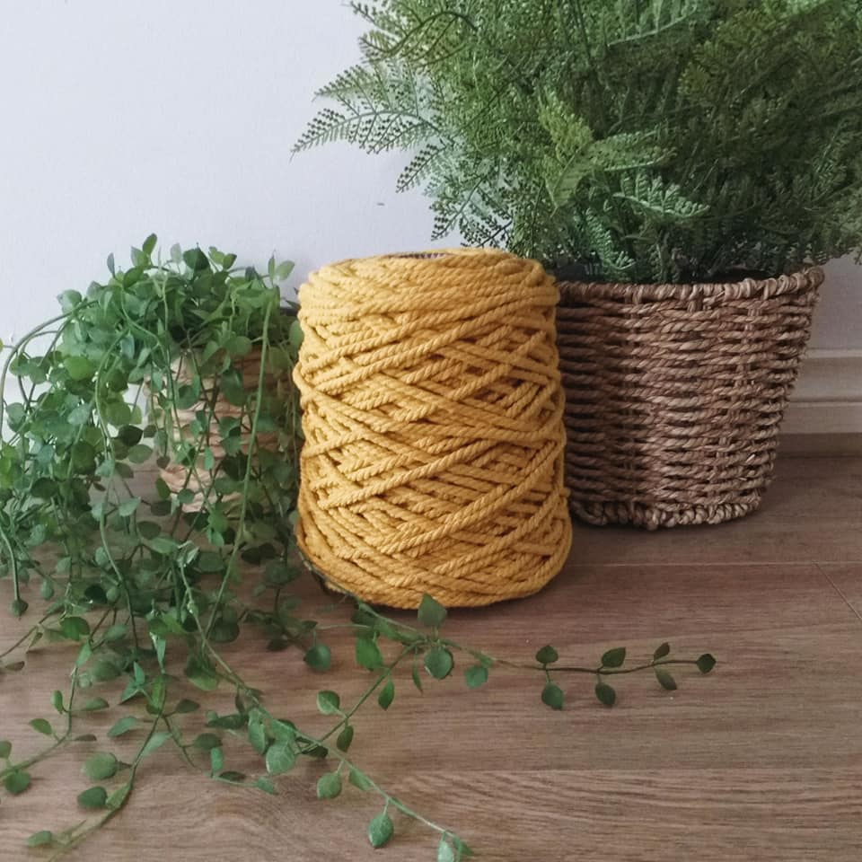 Image of 1kg Mustard 3ply Rope