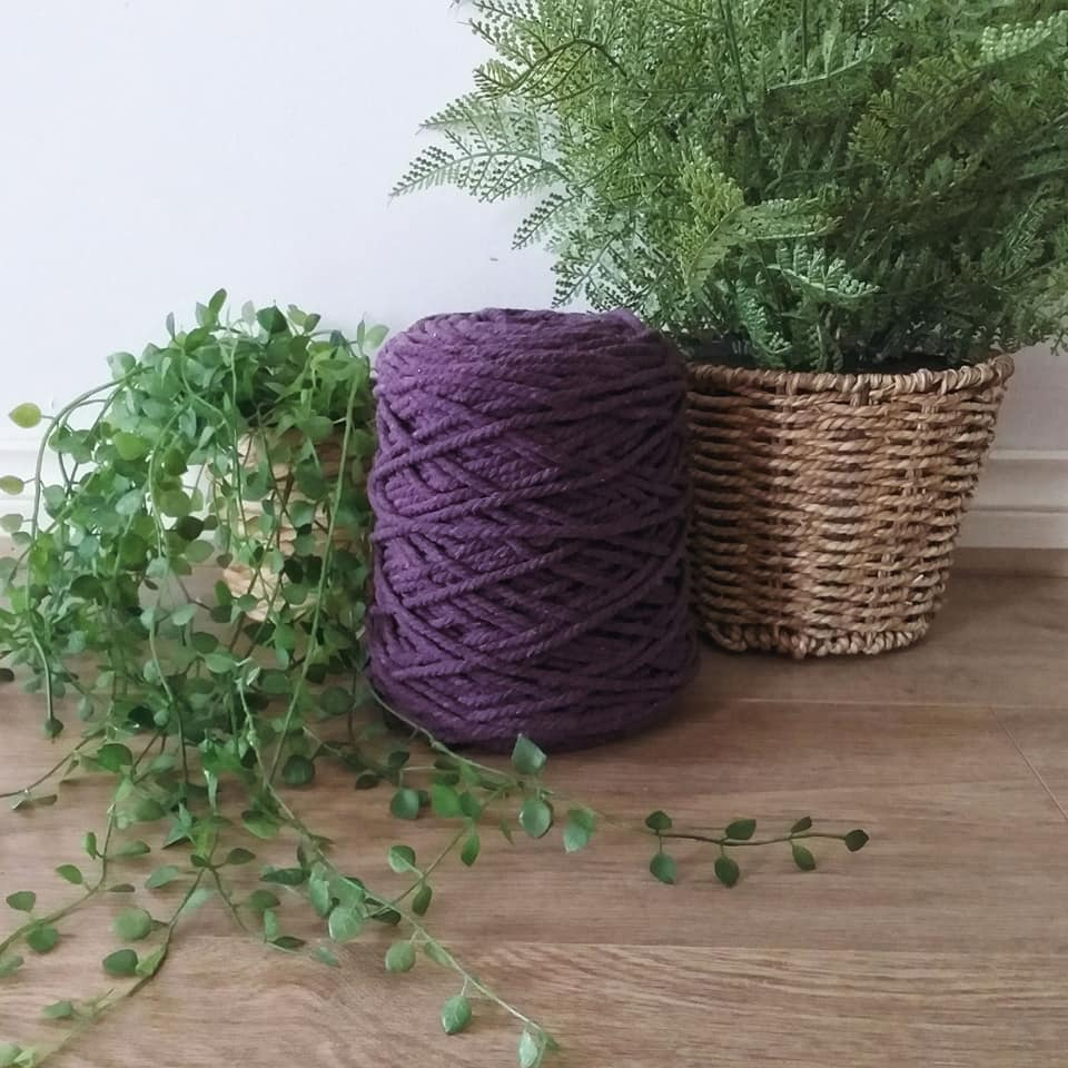 Image of 1kg Eggplant 3ply Rope