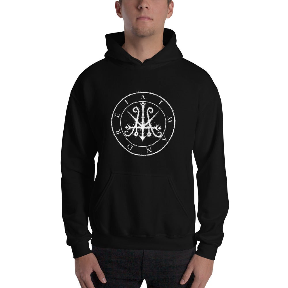 "Image of Atman Drei Demo I ""Symphonie des  Loges Neuf de Noé"" Hooded Sweatshirt"