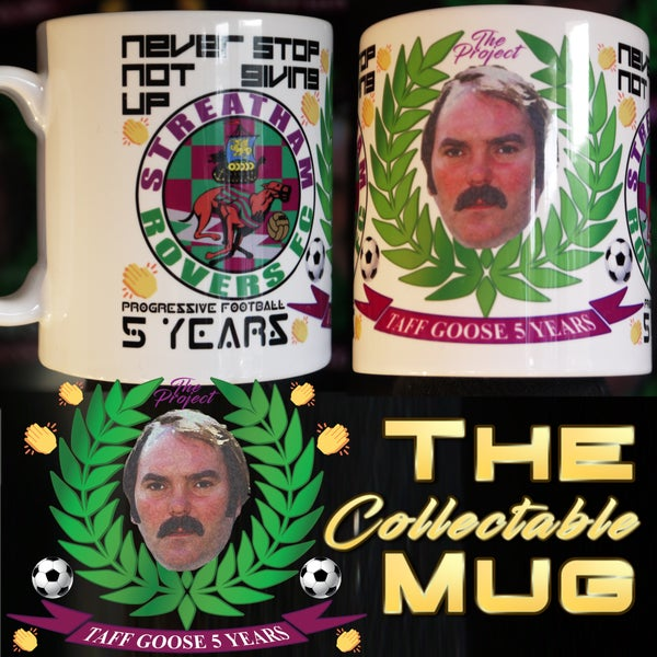 Image of PRE-ORDER Taff Goose 5 Years Commemorative Collectable Mug