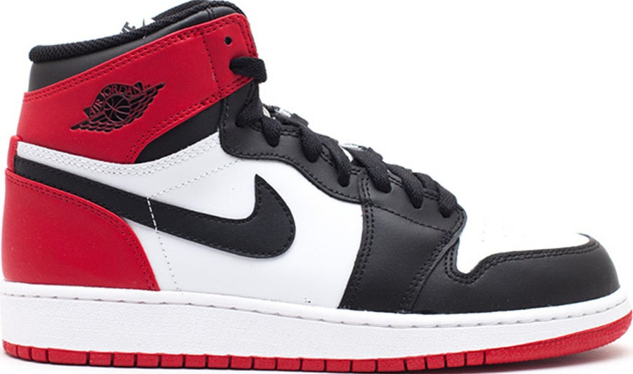 "Image of Nike Retro Air Jordan 1 ""Black Toe"" Sz 6.5Y"