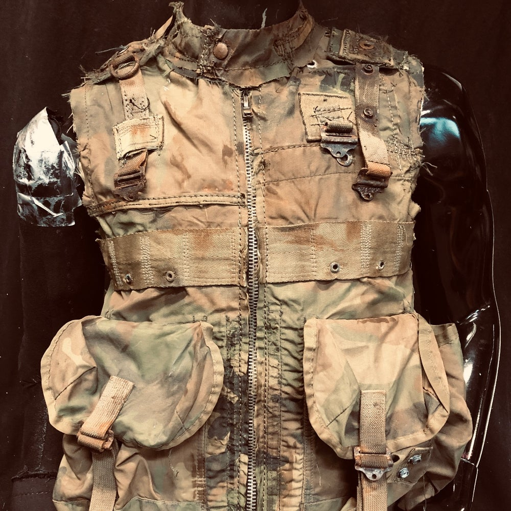 Image of Camo Vest in Leather and Nylon