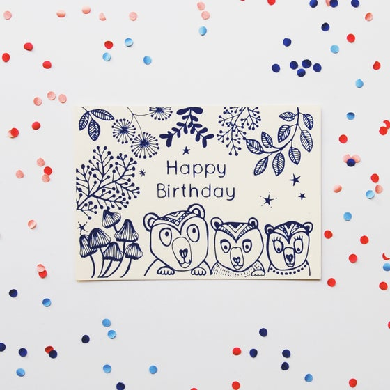 Image of Happy Birthday - Bears